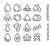 blood drop  rain drop  water... | Shutterstock .eps vector #698950906