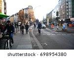 berlin  germany   november 9  ... | Shutterstock . vector #698954380