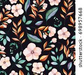 lovely seamless pattern with...   Shutterstock . vector #698957668