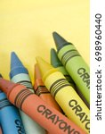 Bunch Of Colorful Crayons On A...
