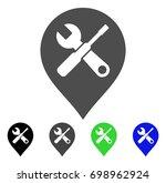 repair tools map marker flat... | Shutterstock .eps vector #698962924
