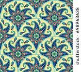 seamless background. round... | Shutterstock . vector #698963638