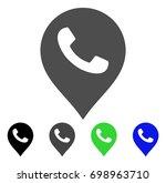 phone receiver marker flat...   Shutterstock .eps vector #698963710