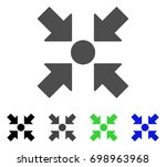 meeting point flat vector... | Shutterstock .eps vector #698963968