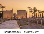 twilight from luxor temple | Shutterstock . vector #698969194