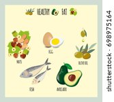 vector illustration. healthy...   Shutterstock .eps vector #698975164