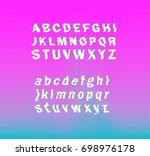 glitched font  typeface.... | Shutterstock .eps vector #698976178