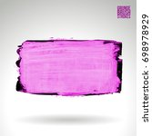 purple brush stroke and texture....   Shutterstock .eps vector #698978929