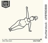 thin line icon series  yoga for ... | Shutterstock .eps vector #698980888