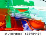 painted abstract background | Shutterstock . vector #698984494