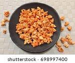 spicy popcorn   Shutterstock . vector #698997400