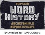 vintage font  handcrafted... | Shutterstock .eps vector #699000598