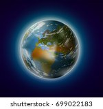 realistic planet earth from... | Shutterstock .eps vector #699022183