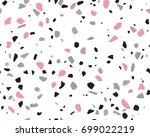 terrazzo pattern. endless... | Shutterstock .eps vector #699022219