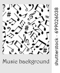 seamless music background with... | Shutterstock .eps vector #699026038