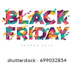 black friday sale poster with... | Shutterstock .eps vector #699032854