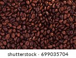close up of coffee beans for... | Shutterstock . vector #699035704