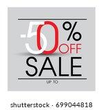 abstract sale baner. sale 50 ... | Shutterstock .eps vector #699044818