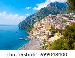 scenic positano town on amalfi...   Shutterstock . vector #699048400