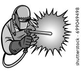 arc welder illustration | Shutterstock .eps vector #699049498