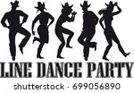country western line dance... | Shutterstock .eps vector #699056890