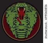 viper snake. hand drawn vector... | Shutterstock .eps vector #699060856