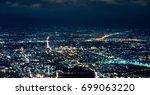 doi suthep chiangmai night view ... | Shutterstock . vector #699063220