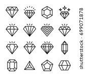 precious stone line vector... | Shutterstock .eps vector #699071878