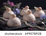 trendy mousse cakes with pink... | Shutterstock . vector #699078928