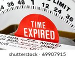 time expired indicator on a... | Shutterstock . vector #69907915