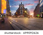 central square of katowice ...   Shutterstock . vector #699092626