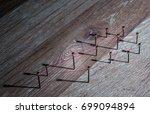 concept of a social network... | Shutterstock . vector #699094894