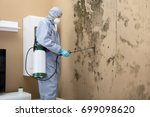 pest control worker in uniform... | Shutterstock . vector #699098620