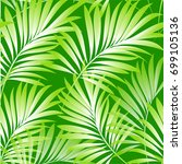 tropical palm leaves  jungle...   Shutterstock .eps vector #699105136