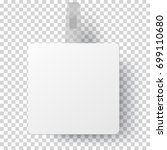 vector white square self... | Shutterstock .eps vector #699110680