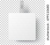 vector white square self... | Shutterstock .eps vector #699110680