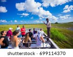Small photo of USA. FLORIDA. MIAMI. AUGUST 2017: Everglades National Park, Airboat tour.
