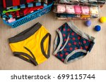 panties for the boy. view from... | Shutterstock . vector #699115744