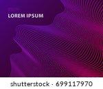 futuristic template design... | Shutterstock .eps vector #699117970