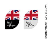 stickers made in great britain. ... | Shutterstock .eps vector #699118294