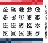 set of pixel perfect icon in... | Shutterstock .eps vector #699121294