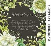 elegance greenery frame for... | Shutterstock . vector #699121948