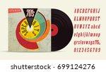 70's music mix. super hits.... | Shutterstock .eps vector #699124276