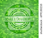 make a difference green mosaic... | Shutterstock .eps vector #699130210