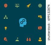 set of 13 strategy icons set... | Shutterstock .eps vector #699132874