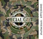 special gift on camouflage... | Shutterstock .eps vector #699134440