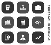 set of 9 budget icons set... | Shutterstock .eps vector #699135868