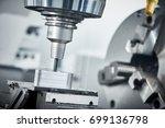 industrial metalworking cutting ... | Shutterstock . vector #699136798