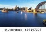 panorama of sydney city cbd and ... | Shutterstock . vector #699147379