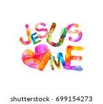 jesus loves me. vector... | Shutterstock .eps vector #699154273